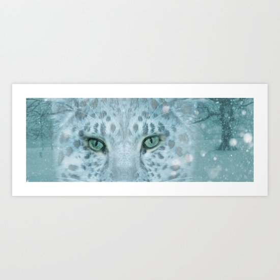 Snow Leopard day Art Print