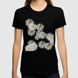 Flower white minimal margarita daisy T-shirt