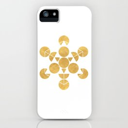 ICOSAHEDRON FRUIT OF LIFE minimal sacred geometry iPhone Case