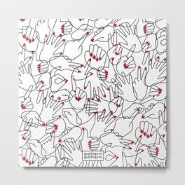 HANDS / pattern pattern Metal Print