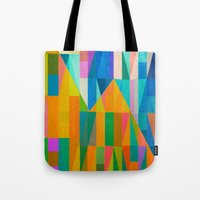 climbing Tote Bags featuring By Climbing Colors by Fernando Vieira