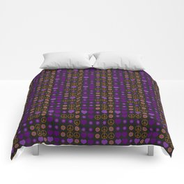 Halloween Peace Holiday Weave Comforters