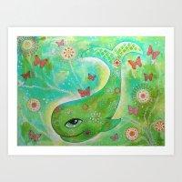 A Whale's Garden Art Print