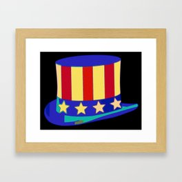Uncle Sam Hat Pop Art Framed Art Print