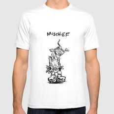 Mischief Mens Fitted Tee White MEDIUM