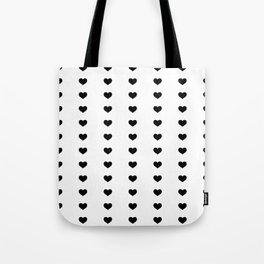 Vertical Hearts Tote Bag