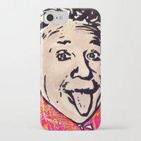 einstein iPhone & iPod Cases featuring Einstein by Paola Gonzalez