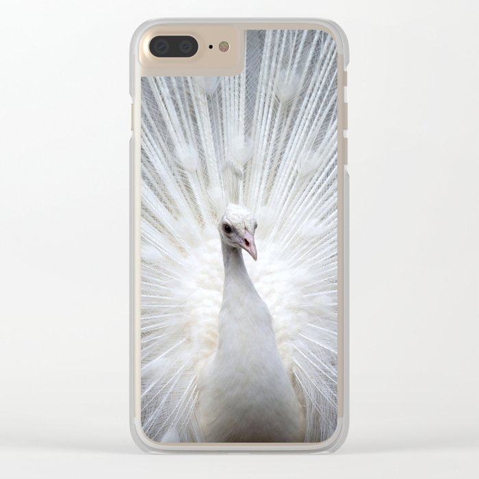 Peacock20160401 Clear iPhone Case