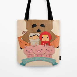 3 little pigs Tote Bag