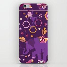 Hexagon circus iPhone Skin