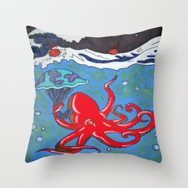 Cloudy With a Chance of Meteor Showers Throw Pillow