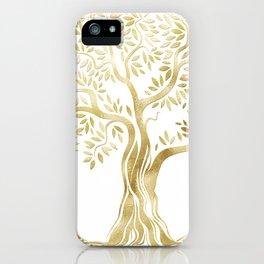 Golden Tree of Life iPhone Case