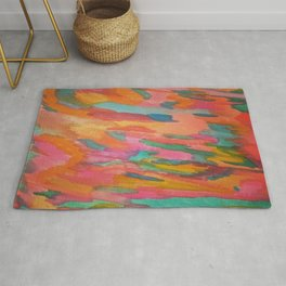 Rainbow Sherbet Abstract Painting Rug