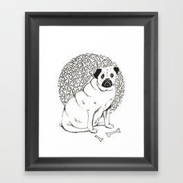 The Hungry Pug Framed Art Print