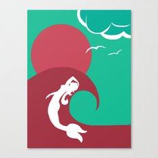 Mermaid Silhouette Canvas Print
