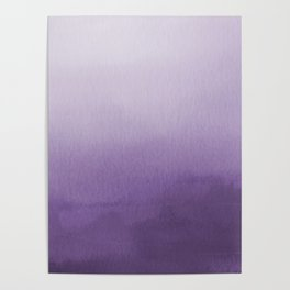 Inspired by Pantone Chive Blossom Purple 18-3634 Watercolor Abstract Art Poster