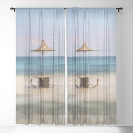 Seaside Bar Sheer Curtain