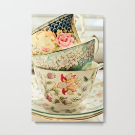 China Cups Metal Print