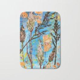 SPRING ADVENTURE - WILD GRASS SEEDS - Original abstract painting by HSIN LIN / HSIN LIN ART Bath Mat