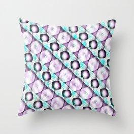 Horizontal Shadow Geometrics Lavender Throw Pillow