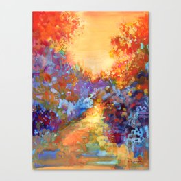 Late Afternoon Autumn Sun Canvas Print