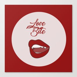 Love Bite Canvas Print