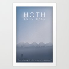 Star Wars Hoth Echo Base Art Print
