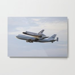 1454. Space Shuttle Endeavour on Top of Shuttle Carrier Aircraft Metal Print
