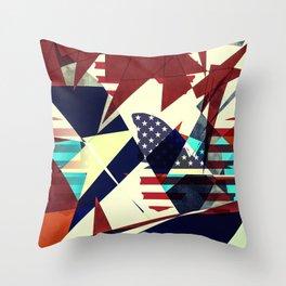 USA - Butterfly Effect Throw Pillow