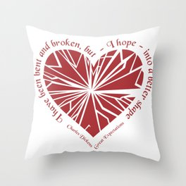 Charles Dickens - Great Expectations Throw Pillow