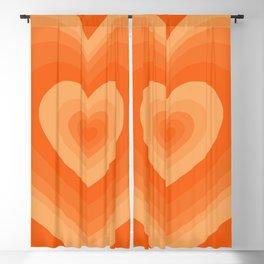 Retro Hearts Pattern (viii 2021) Blackout Curtain