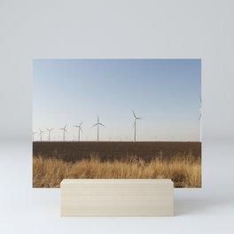 A wind-turbine farm near the city of Snyder in Scurry County Texas Mini Art Print