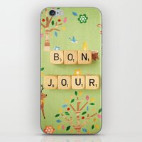 bonjour iPhone & iPod Skins featuring Bonjour by happeemonkee