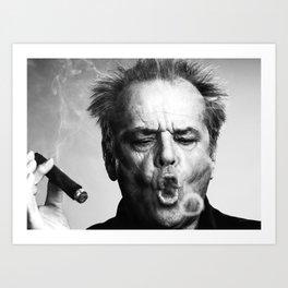 Jack Nicholson Cigar Art Print