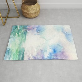 Colored Sky Watercolor Painting Rug