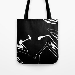Black and White liquid Paint Splash Tote Bag