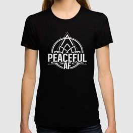 Peaceful AF Geometry Yoga Spirituality Meditation 80s Look Geometric  T-shirt