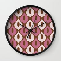 wallpaper Wall Clocks featuring Wallpaper by Small Comforts