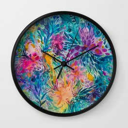 Summer Floral Wall Clock
