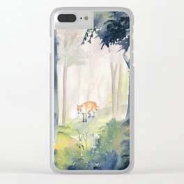 Lone Fox Clear iPhone Case