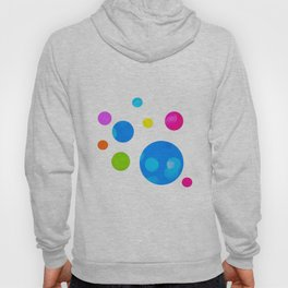 Colorful Bold Bubble Design Hoody