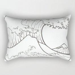 The wave of Kanagawa Rectangular Pillow