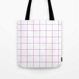 Graph Paper (Purple & White Pattern) Tote Bag
