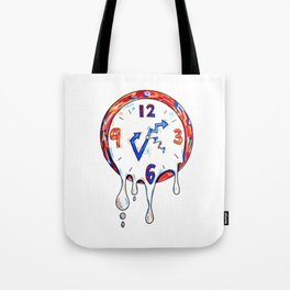 TIME IS MELTING Tote Bag