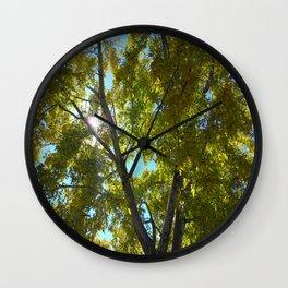 Sun Leaves Wall Clock