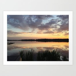 Sunset on Blackwater Art Print
