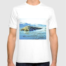 Magnificent nature. MEDIUM Mens Fitted Tee White