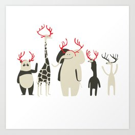 Happy to be Canadian! Art Print
