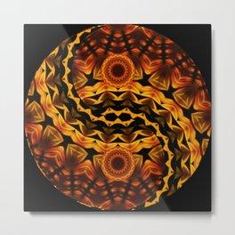 brown ying yang Metal Print