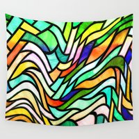 stained glass Wall Tapestries featuring Stained glass by haroulita